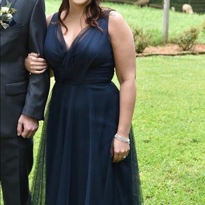 Navy Tulle Bridesmaid Dress (fits a size 8)
